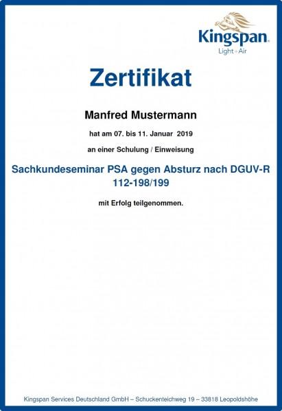 Sachkundeseminar PSA gegen Absturz