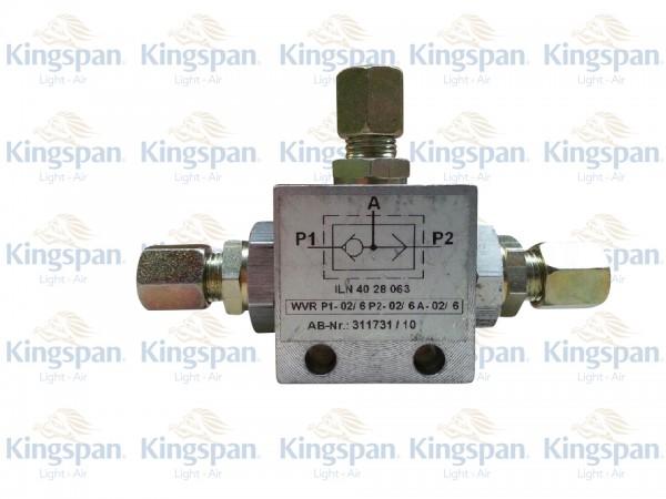 Wechselventil mit Vorrang Typ WVR-V P1-02/6 P2-02/6 A-02/6