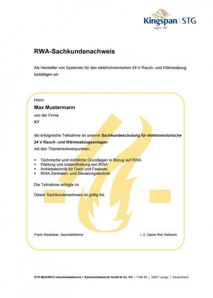 Sachkundeseminar RWA-Elektro-Schulung