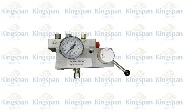 """Schaltventil """"Auf-Zu"""", CO2-Vorranganschluß mit Manometer, Typ: SV 06-7/3VV"""