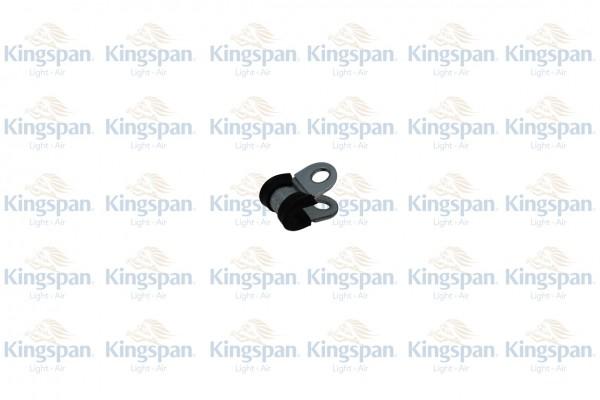 Gummiprofilierte Rohrschelle 6mm